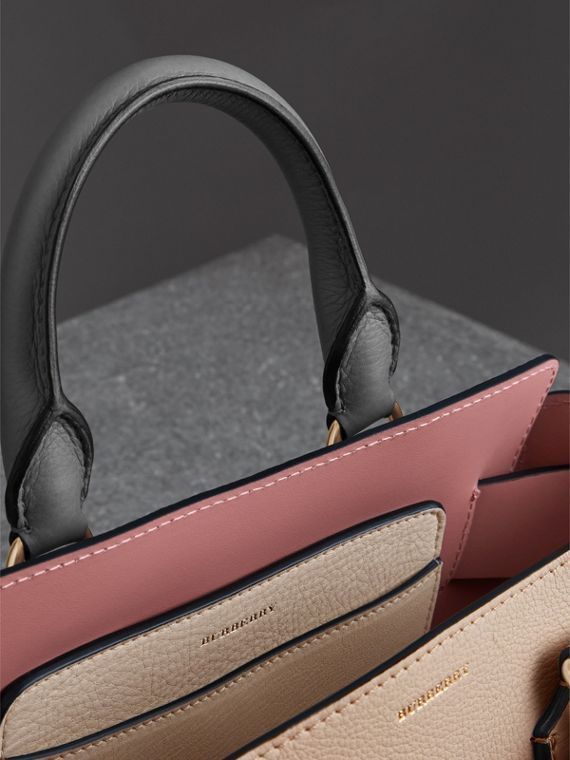 e567a8594fc The Small Tri-tone Leather Belt Bag in Limestone dusty Rose - Women    Burberry
