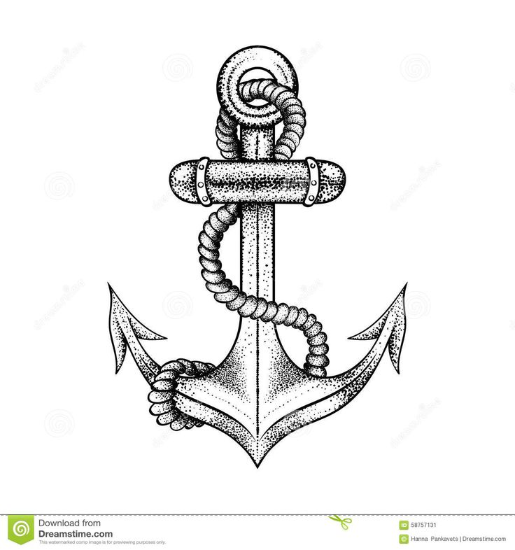 25 best black anchor tattoo drawings images on pinterest - Dessin ancre marine ...