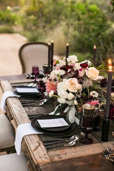 A bit of outdoor dining drama for those late summer and early fall meals!