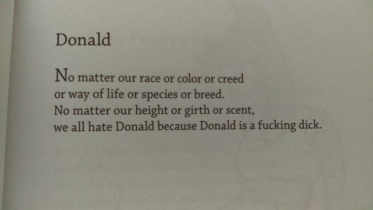A relevant poem from 'Egghead' by Bo Burnham 2014 http://ift.tt/2kzT2RP