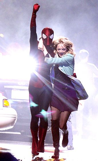 Real life couple Andrew Garfield and Emma Stone filmed new scenes for The Amazing Spider-Man 2.