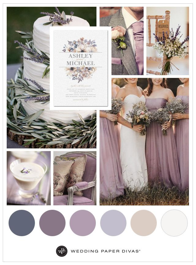 Lavender flowers, rustic hues and earthy scents set the tone for a romantic, rustic wedding—it's no wonder lavender is such a trend. You can't go wrong with flower cake decorations, lavender-inspired cocktails and chiffon dresses.