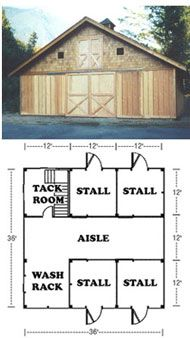 Small Horse Barn Designs | ... barn plans order the paper set or immediately download your plans