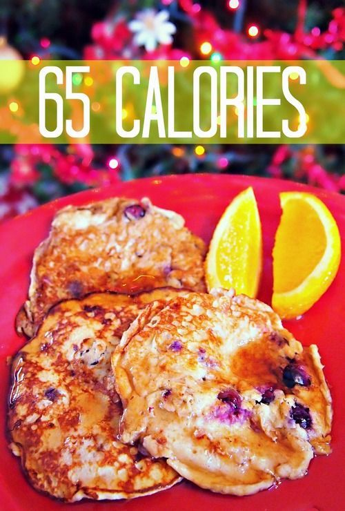 65 Calorie Banana Blueberry Pancakes Only 3 Ingredients: Egg, Banana and Blueberries!