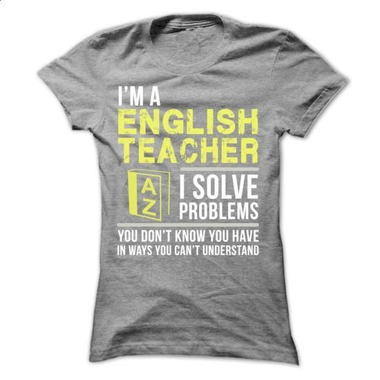 English Teacher - #cool t shirts #custom sweatshirts. MORE INFO => https://www.sunfrog.com/LifeStyle/English-Teacher-24630792-Ladies.html?60505