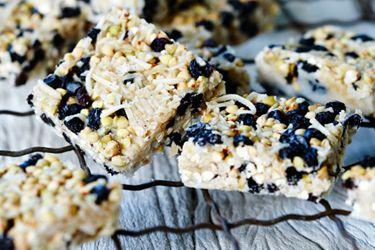 Buckwheat crackle slice – Recipes – Bite - Formerly Foodhub.co.nz #RealFood #HealthyEating
