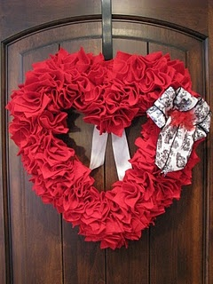 This will definitely be my Valentines wreath