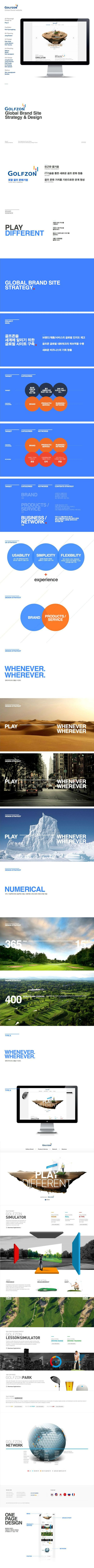 GolfZone Global Website Design on Behance