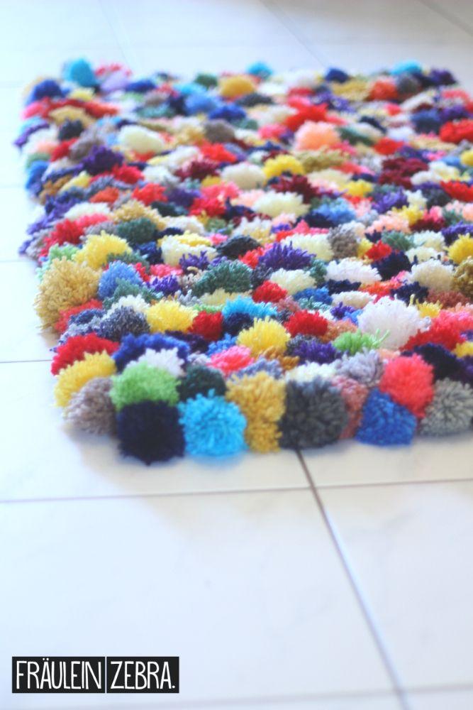 Ber ideen zu bommel teppich auf pinterest for Pompoms kinderzimmer