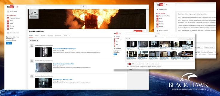 ThinkBAG designed the BLACK HAWK's channel on Youtube and loaded all the company's related videos.