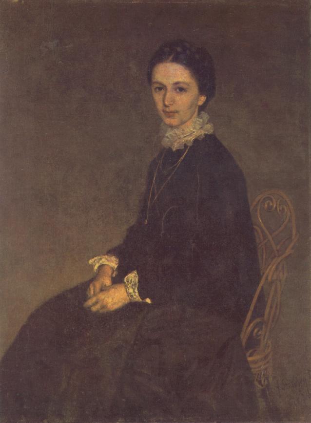 Pál Szinyei Merse (Hungarian: 1845 – 1920) ~ Portrait of Ninon Szinyei Merse