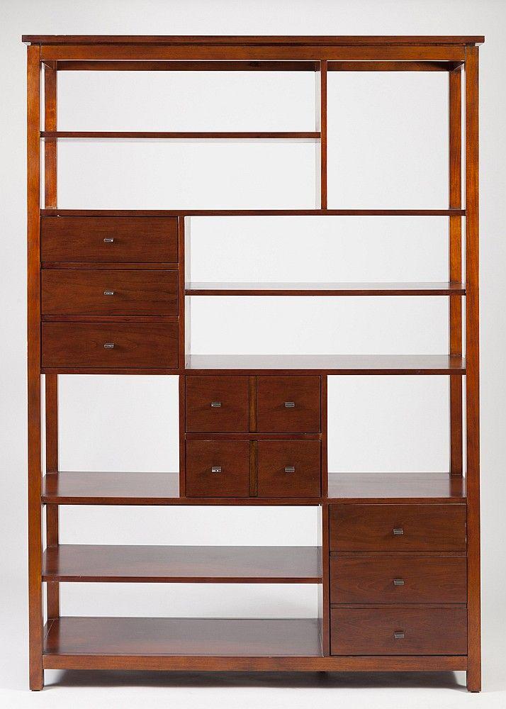 Modern design, wooden partition shelving unit - by Link