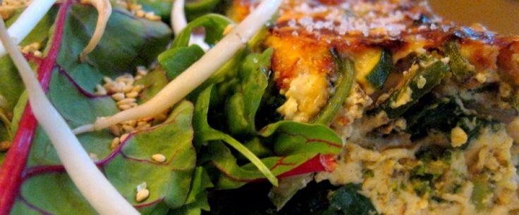 Vegetarian quiche.