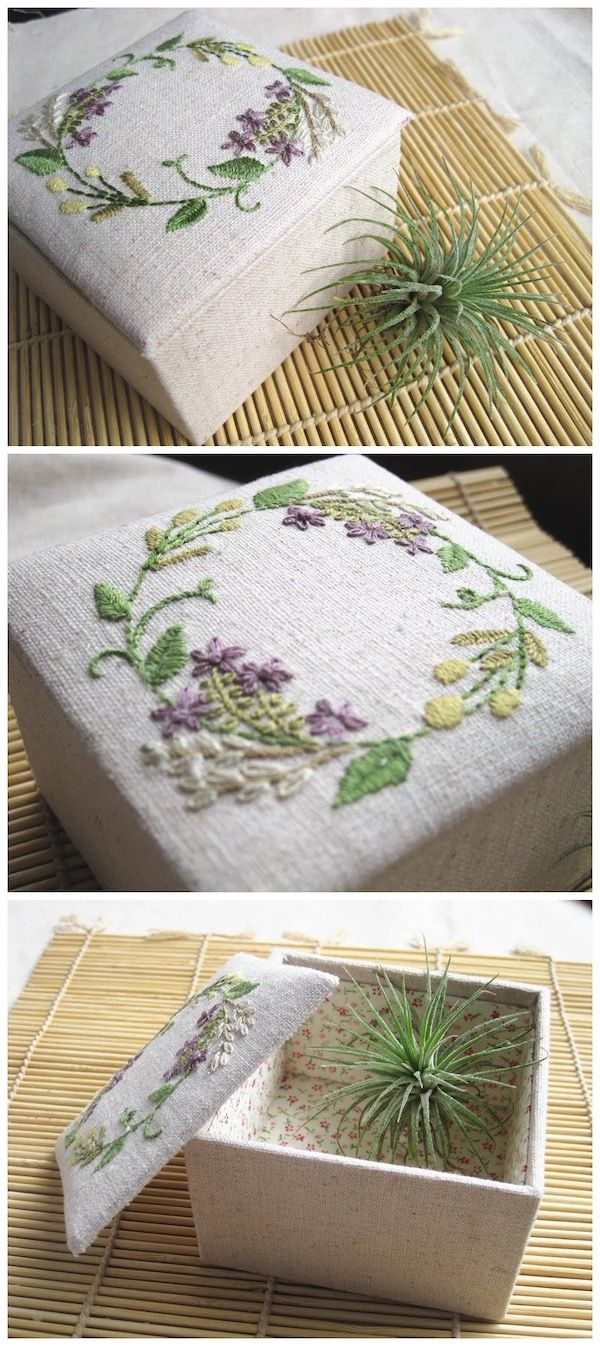 Ribbon embroidery bedspread designs - Flower