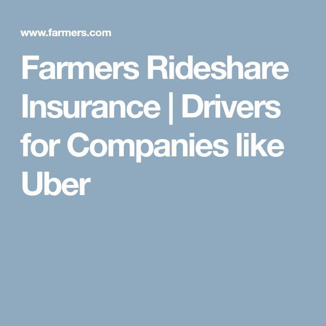 Farmers Rideshare Insurance | Drivers for Companies like Uber