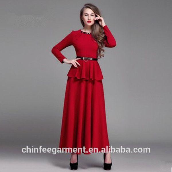 Abaya Dresses Peplum Dresses For Muslim Women