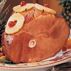 Baked Ham with Pineapple  - this is great for Easter.  Add a can of Sprite to the pineapple juice and brown sugar.  This makes a good flavor and baste throughout the cooking process!