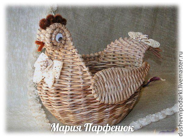 Купить Курочка плетёная - бежевый, курочка, корзина плетеная, Пасха, пасхальный подарок, пасхальный декор