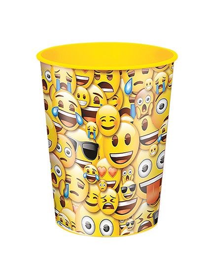 Emoji Smile 16oz Plastic Favor Cup (Each) -Favors and Party Supplies