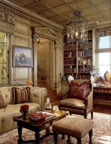 The ultimate library.....butter-soft leather furnishings.                             The Virtual Builder