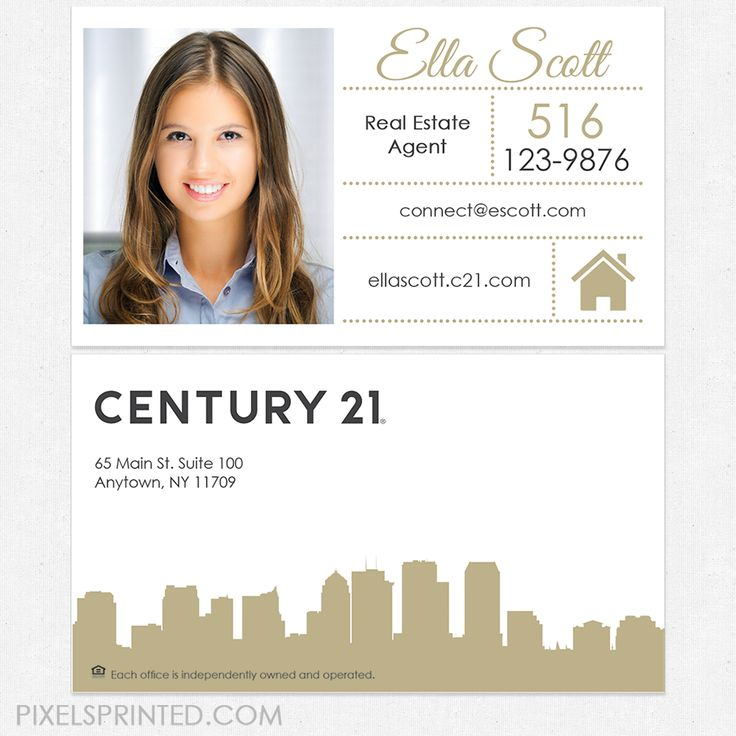 81 best Century 21 business cards and stationery. images on Pinterest