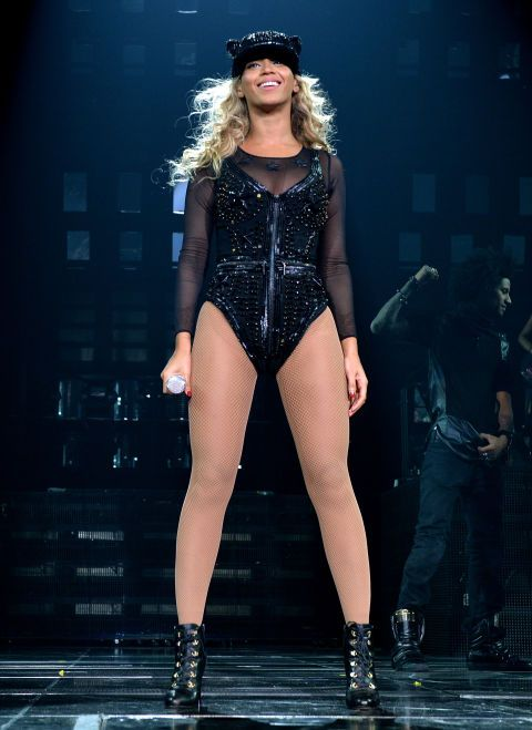 December19, 2013: Beyonce performing at 'The Mrs. Carter Show' World Tour in New York in Givenchy.