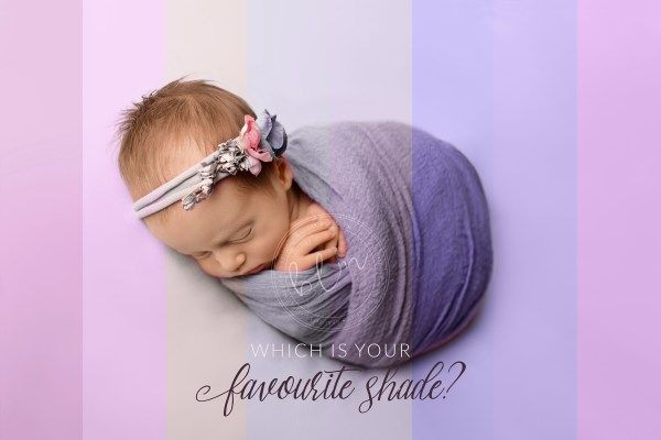 newborn baby girl pinks and purples