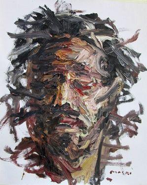 "Saatchi Online Artist Masri Hayssam; Painting, ""My last portrait #4"" #art"