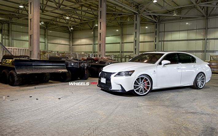 Download imagens Vossen, ajuste, 2017 carros, Lexus GS350, CVT, carros de luxo, carros japoneses, Lexus