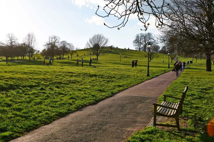 Park bench on Primrose Hill