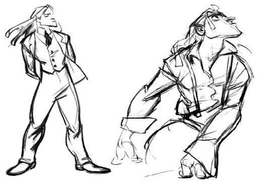 """Concept art of Tarzan by Glen Keane from """"Tarzan"""" (1999)."""