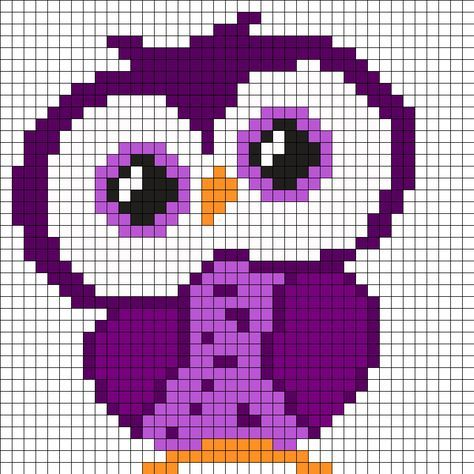 Purple Owl Perler Bead Pattern                                                                                                                                                     More