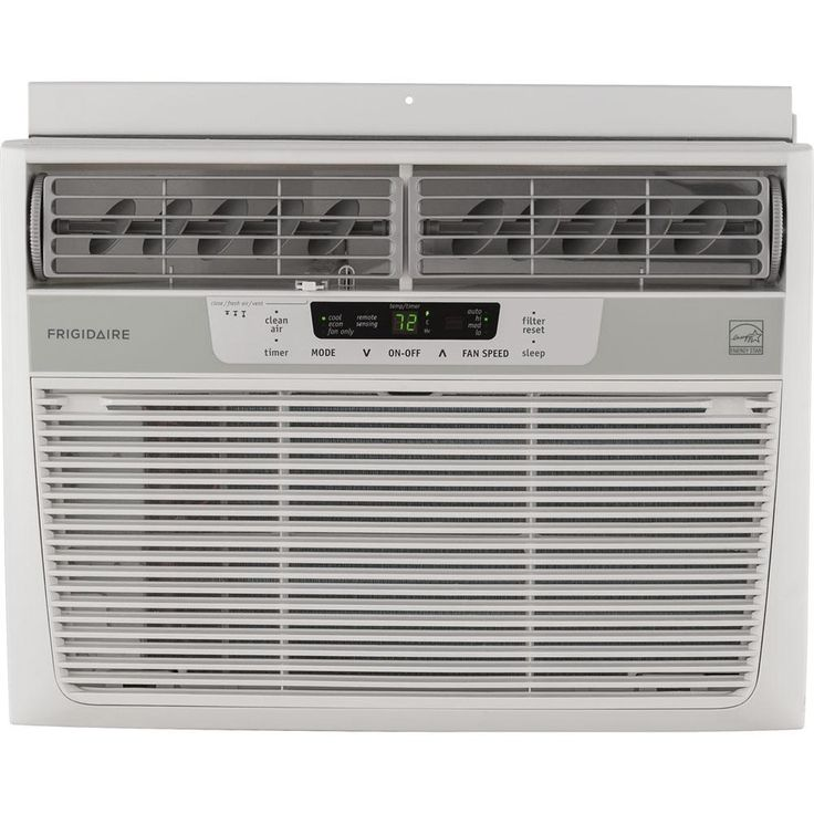 Frigidaire 10,000 BTU 115-Volt Window-Mounted Compact Air Conditioner with Temperature Sensing Remote Control, White
