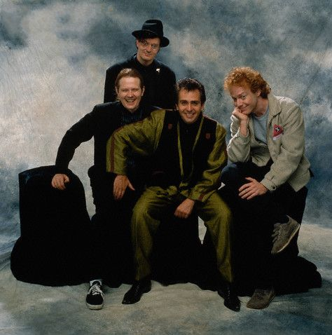 Pete with Mark Mothersbaugh (DEVO), Danny Elfman (Oingo Boingo), and I don't know who that other guy is.