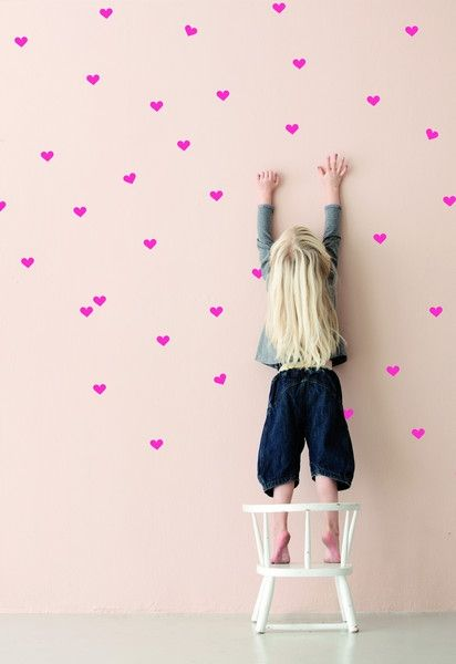 Neon Pink Wall Stickers by Ferm Living | at Darling Clementine