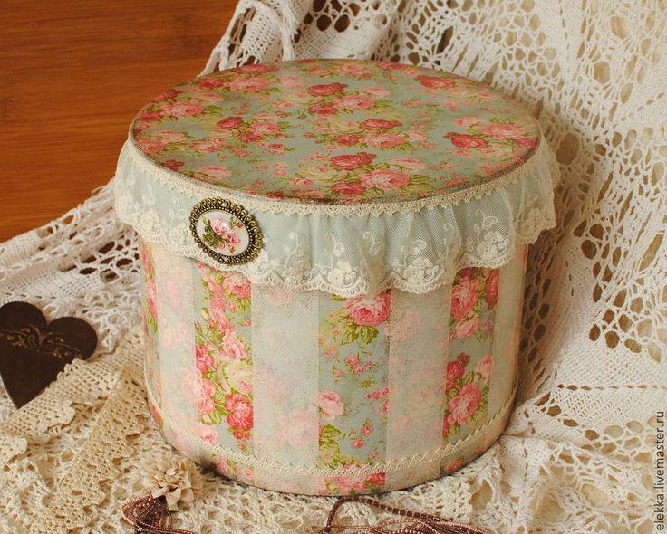 """Купить Шляпная коробка """"Английские розы"""" - шляпная коробка, коробка шляпная, коробка для мелочей"""