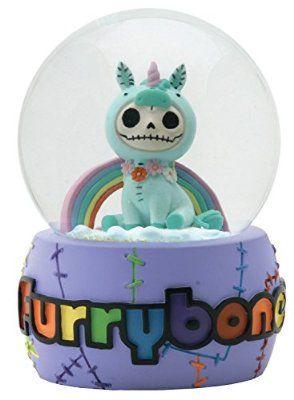 Furry Bones Unie Unicorn Water Glitter Snow Globe