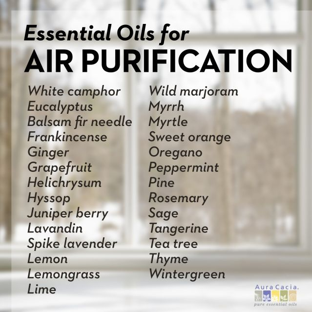 27 Essential Oils To Purify Air Naturally Purifying
