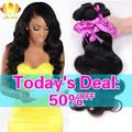 Brazilian Body Wave 4 Bundles 8A Mink Brazilian Virgin Hair Body Wave,Rosa Hair Products Soft Brazilian Human Hair Weave Bundles