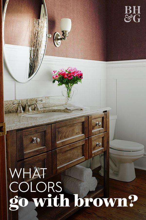 8 Rich Color Schemes That Prove Brown Based Designs Aren T Boring White Bathroom Colors Bright Bathroom Colors Bathroom Color Schemes Brown