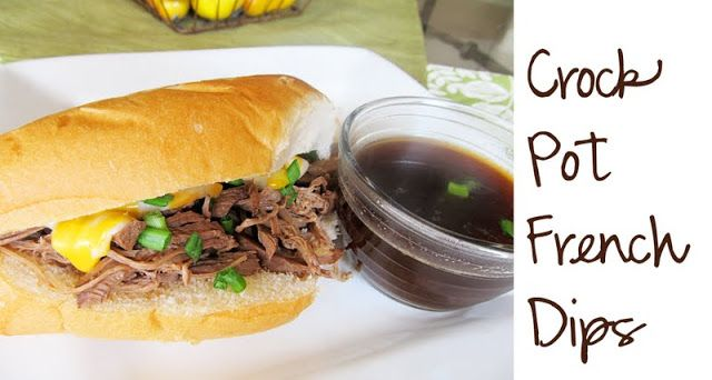 Lovely Little Snippets: Crock Pot French Dips. I made these last night and they were gone fast!! Everyone loved them! I used a hard roll from the bakery and warmed in a pan with butter. Yumm