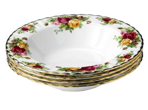 Royal Doulton-Royal Albert Old Country Roses Rim Soups, Set of 4 Royal Doulton (need 2 sets of 4)