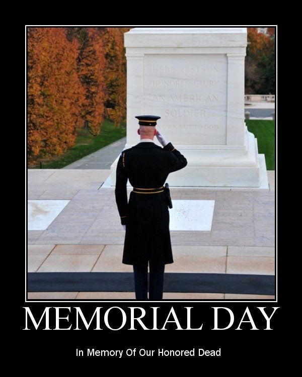 Happy Memorial Day Thank you to every Service Man and Woman who has given their all to guarantee us the wonderful freedom we enjoy. May we never forget or take for granted what their sacrifice means to us!