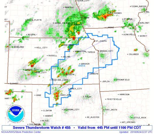 SPC Severe Thunderstorm Watch 455 Status Reports - http://blog.clairepeetz.com/spc-severe-thunderstorm-watch-455-status-reports/