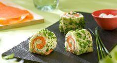Apéro : roulé au saumon fumé (comme des sushis mais avec du pain de mie !)