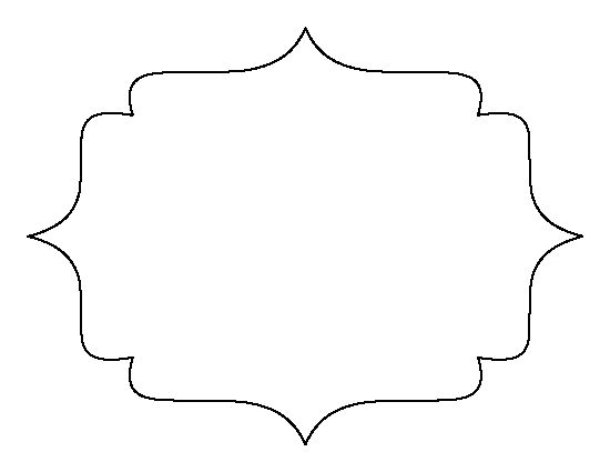 Bracket frame pattern. Use the printable outline for crafts ...