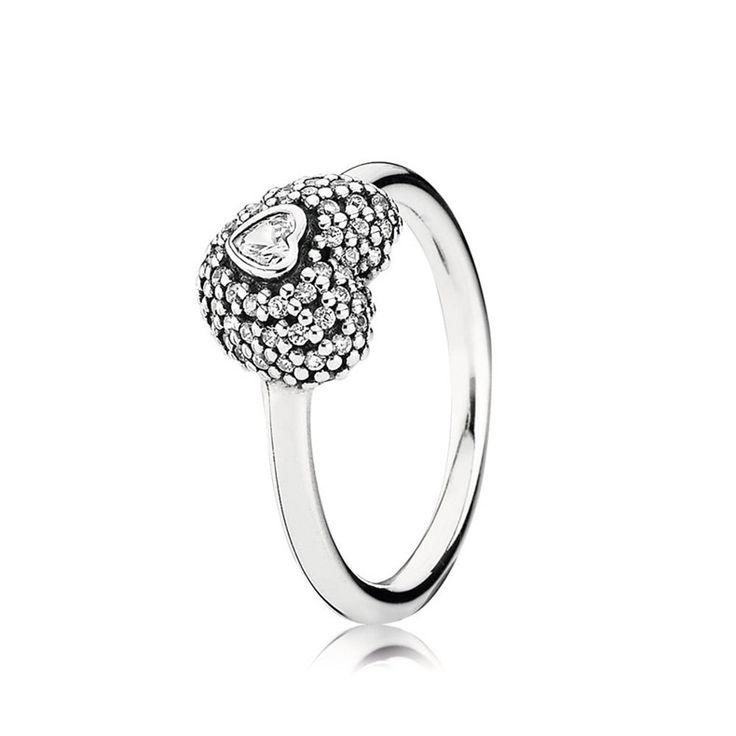 New Pandora im Meine Herz 925 Silber Ring 190877CZ