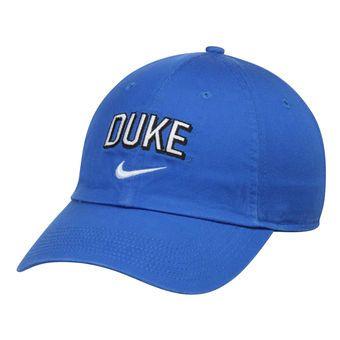 Duke Blue Devils Nike Heritage 86 Wordmark Swoosh Adjustable Hat - Royal