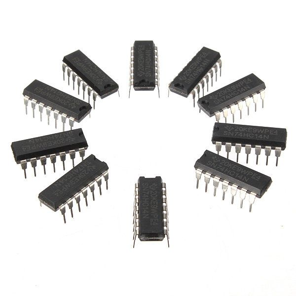 10Pcs SN74HC14N 74HC14 IC Chip DIP-14 Six Inverting Schmitt Trigger