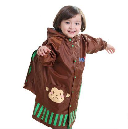 2016 New Arrival Eco-friendly Cartoon Kids Poncho Raincoats for Children boy with schoolbag Rain Poncho Girl hooded raincoat #Affiliate